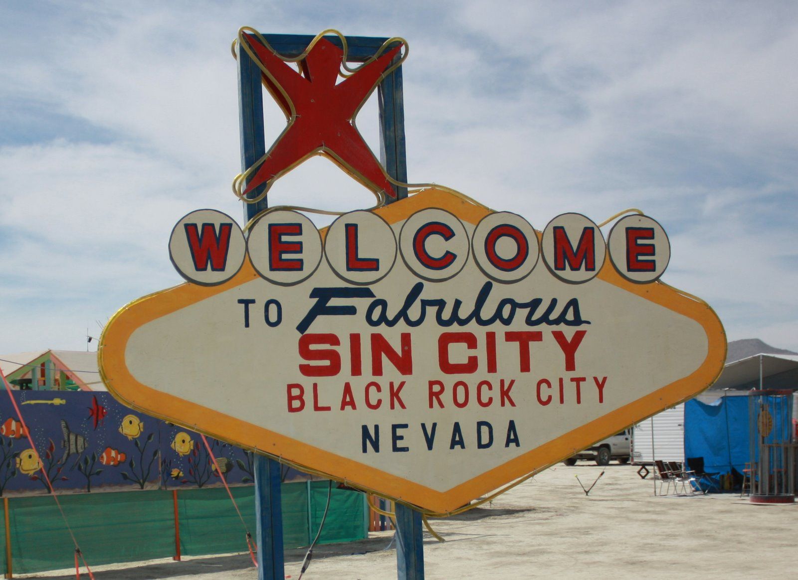 Welcome sign Vegas style